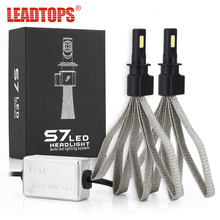 LEADTOPS 1Set External Lights Bulb For Cars 60W H4 H7 LED Car Headlight 9004 H11 H1