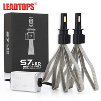 LEADTOPS 1Set External Lights Bulb For Cars 60W H4 H7 LED Car Headlight 9004 H11 H1 Led Headlamp Auto Running Lights DJ