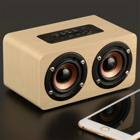 5 Pcs Lot Wooden Bluetooth Speaker W5 HIFI Wireless Speaker 3D Dual Loudspeakers Surround Mini Portable