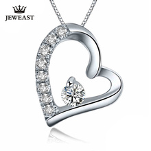 PT950 Platinum Gold Diamond Pendant 10 Cents  Heart Shape  Diamond Necklace Pendant Female 2017 hot sell  Support Customization