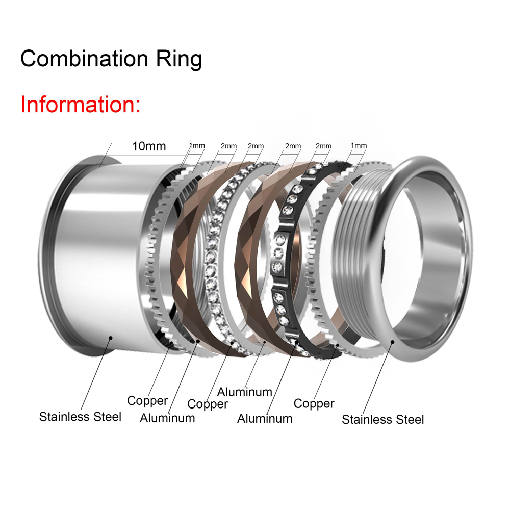 Image 5 - Cremo Silver Stainless Steel Ring For Women Argent Statement Interchangeable Bague Femme Acier Inoxydable Femme Dainty Ring BandRings   -