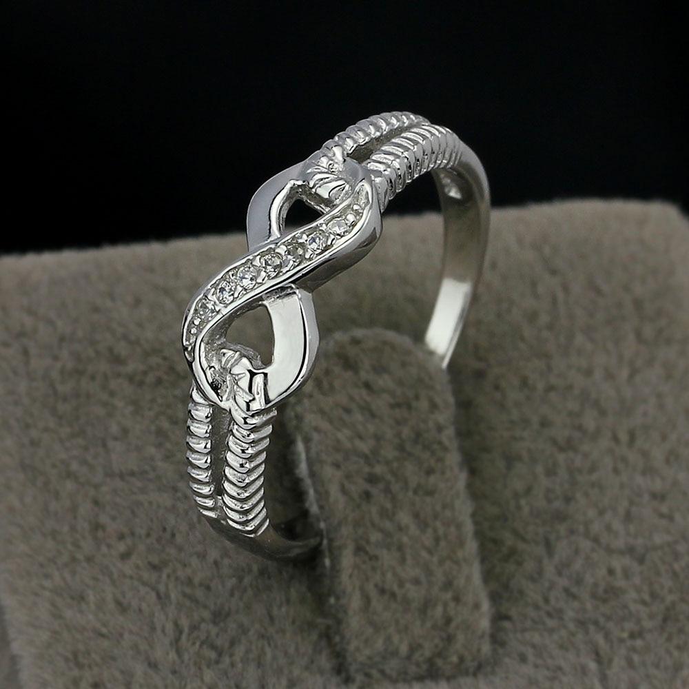 Eternity Ring Engagement Rings Sterling Silver 925 Rings կանանց - Նորաձև զարդեր - Լուսանկար 3