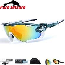 bb613b85e Pureleisure Polarizada Lente 3/Lot Pesca Óculos De Sol Esportes Eyewear  UV400 Pesca Com Mosca