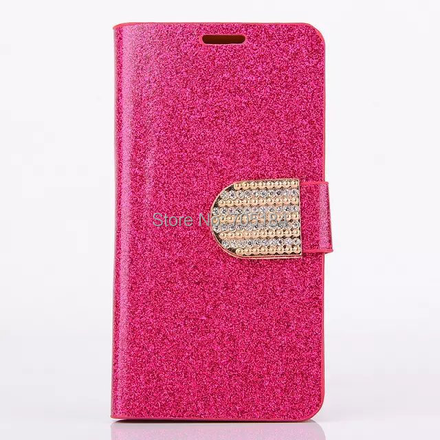 Bling Glitter shiny Chrome skin Flip wallet leather case cover stand Credit card holder cases Samsung Galaxy S5 Mini 3 - Topabc store