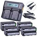 Batmax 4x NP-F750 NP-F770 NP F750 F770 Bateria akku + LCD быстрое двойное зарядное устройство для Sony NP F970 F960 ccd-tr917 ccd-tr940