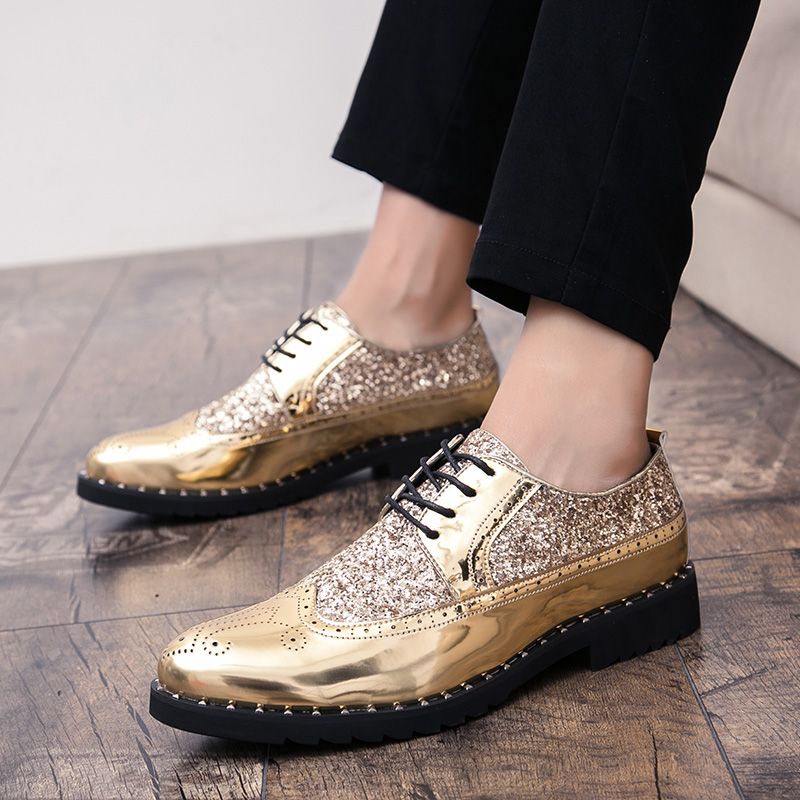 2019 New Business Men Casual Shoes Handmade Breathable Comfortable British Style Men Shoes Leather Flat Man Oxfords Formal Shoes