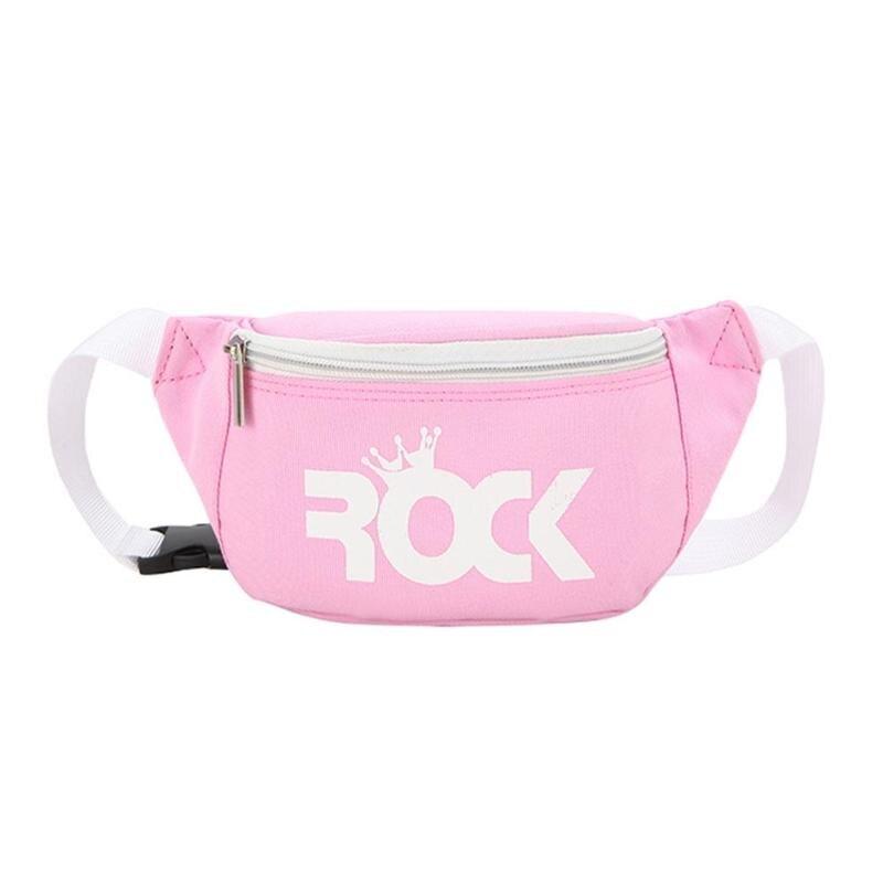 Children Baby Girl Waist Packs Kid Fanny Bag Fashion Solid Color Chest Bag For Boy Printing Money Waist Shoulder Belt Kawaii Bag