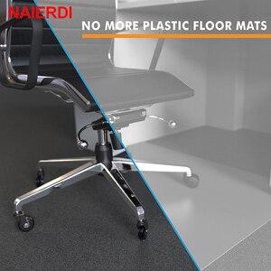 """Image 5 - 5 adet NAIERDI 3 """"evrensel dilsiz tekerlek ofis koltuğu tekerleği değiştirme 60KG döner kauçuk yumuşak güvenli silindirleri mobilya donanım"""