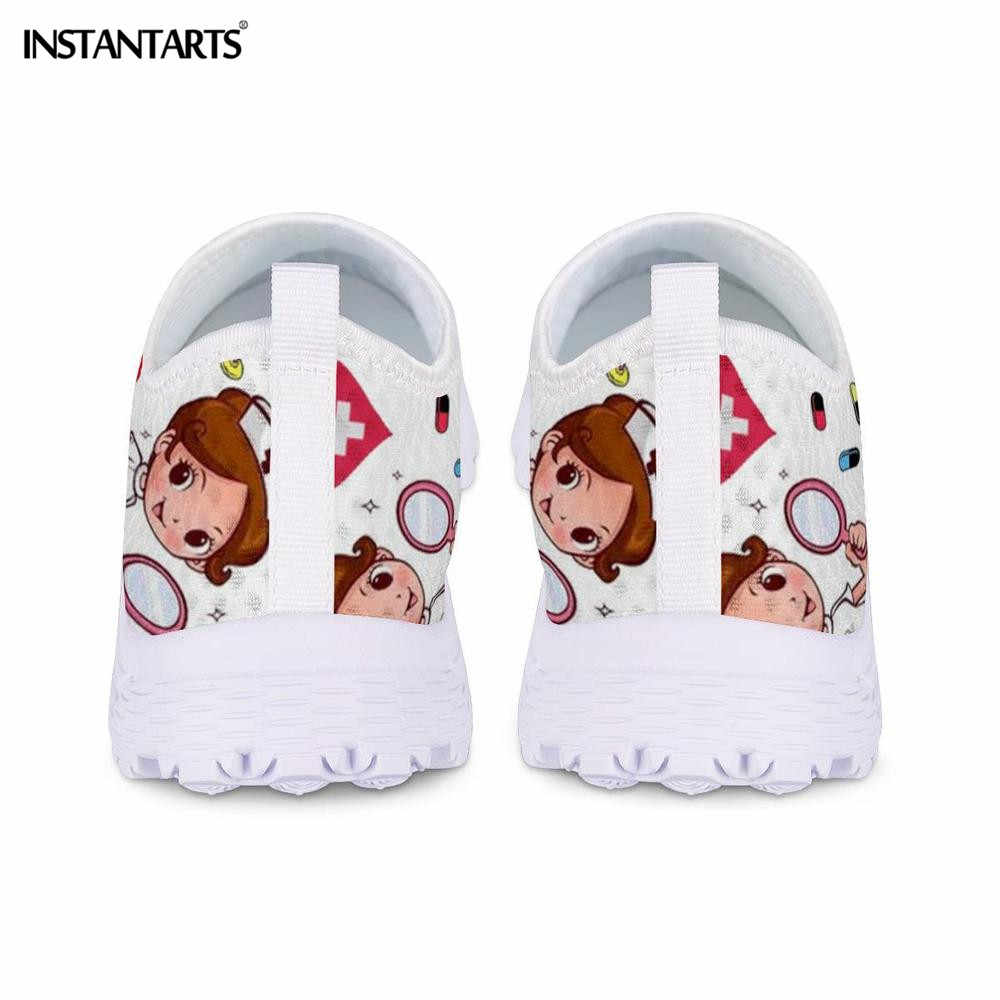 Elictarts New Cartoon infermiera Doctor Print Sneakers da donna Slip On scarpe in Mesh leggero scarpe basse traspiranti estive scarpe Zapatos planos