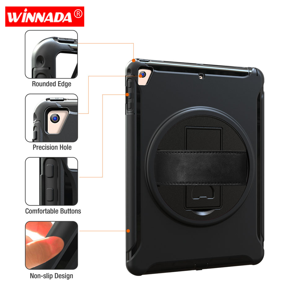 For Ipad 2018 Case Kids Shock Proof Full Body Cover Handle Stand Sleeve For Ipad Ipad