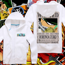 one piece anime jacket hoodie Roronoa Zoro Monkey D. Luffy Tony Chopper Cosplay Costume Unisex Warm Coat Jacket Zipper-up Hoody
