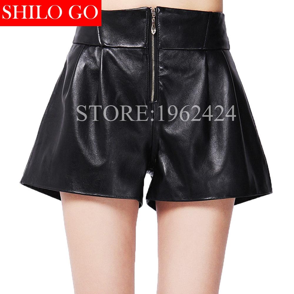 Здесь продается  2017 spring fashion women high quality genuine sheep skin sexy Korean thin waist high waist wide leg pants zipper boots short   Одежда и аксессуары