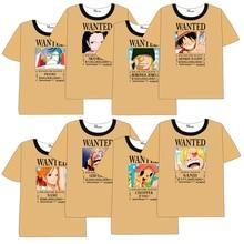 Anime ONEPIECE  One Piece T-shirt Men Women Short Sleeve Summer dress Cartoon One Piece  Luffy  Tony Tony Chopper  t shirt цены онлайн