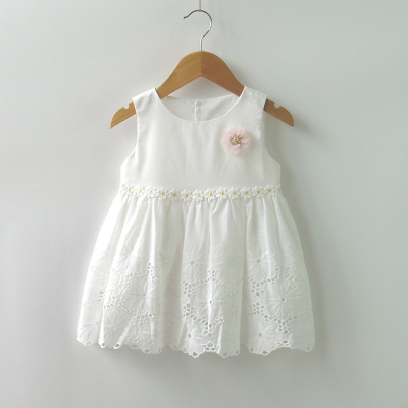 12M to 3T baby & little girls summer cotton flower embroidery white princess party dress toddler girls casual lace dress clothes ems dhl free shipping toddler little girl s 2017 princess ruffles layers sleeveless lace dress summer style suspender