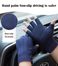 Summer Anti-UV Gloves Men Thin Sweat Absorption Breathable Non-Slip Auto Car Drive Outdoor Hand Protector Half Finger Gloves