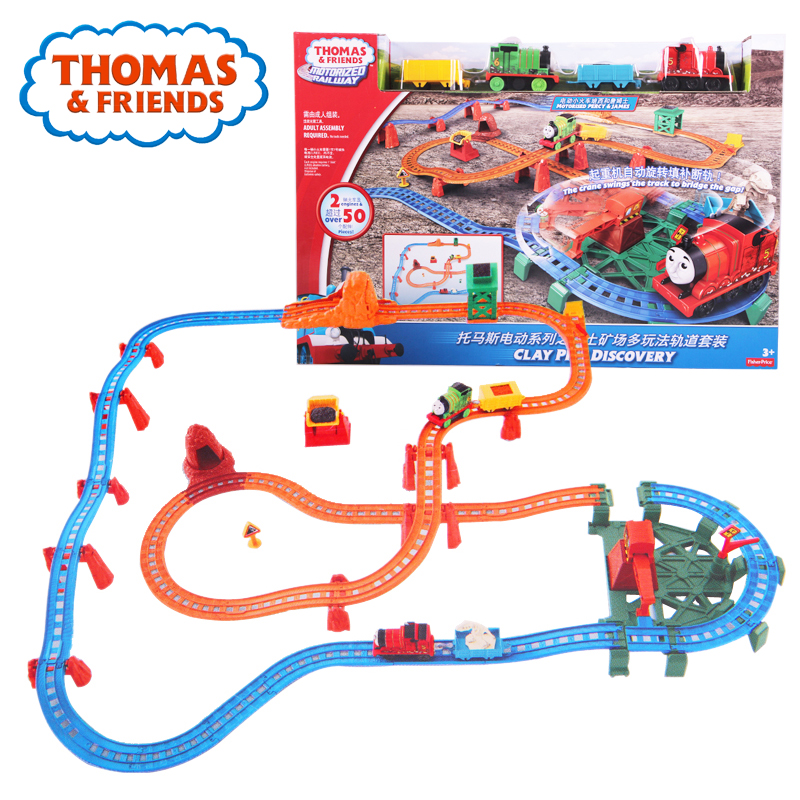 Original Thomas Anime Toy Electric Train Toy Car Track For Children Learning Building Track Thomas and Friends Brinquedos DVJ89