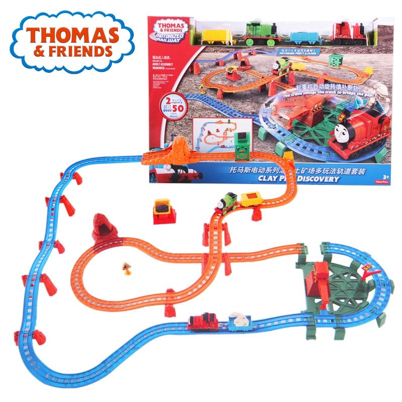 Original Thomas Anime jouet Train électrique jouet voiture piste pour enfants apprentissage construction piste Thomas et amis Brinquedos DVJ89