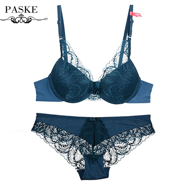 2016 Sexy Bra Set Lace Embroidery Underwear Adjustable Thin Cup Lingerie Set Womens Push Up Bras and Underwear Sets BS15