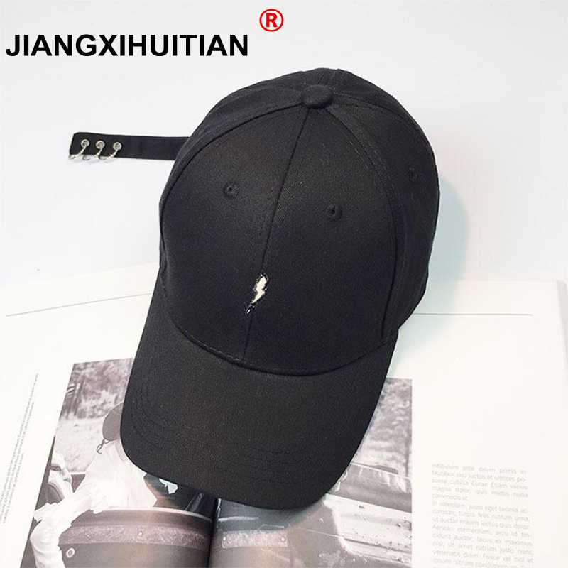 Lightning 2017 summer autumn Brand Fashion adult Baseball Cap Print Lightning Casquette Bone Snapback Hip Hop Hat For women men