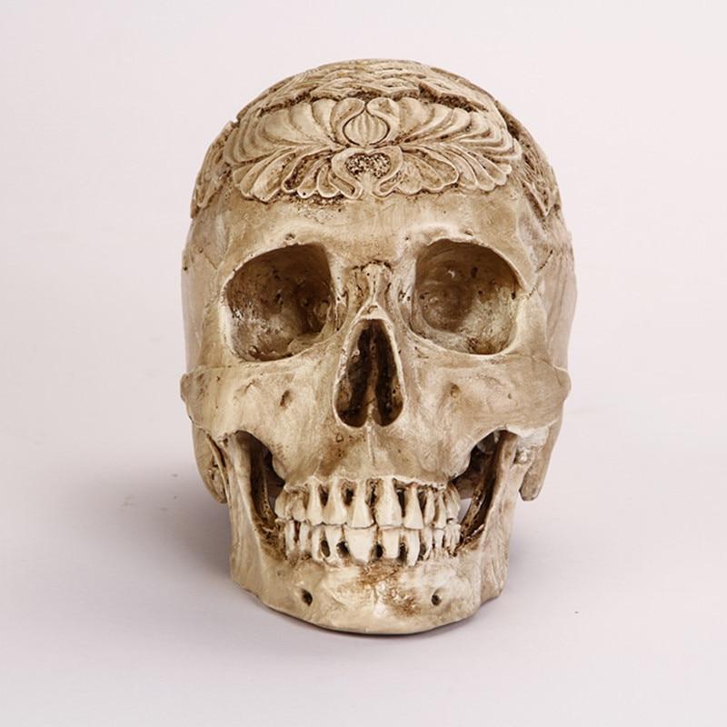 Arts Crafts Egypt Skull Model Resin Handicraft Humen Skulls For Decoration Life Size 1:1 Skeleton Customizable Direct Sale