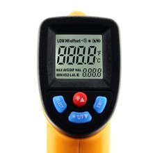 1Pcs GM320 Non-Contact Laser LCD Display IR Infrared Digital C/F Selection Surface Temperature Thermometer X11