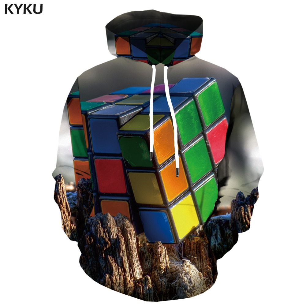 Men's Clothing 3d Hoodies Rubiks Cube Sweatshirts Men Psychedelic Hooded Casual Dizziness Hoodes 3d Colorful Hoody Anime Blurry Hoodie Print