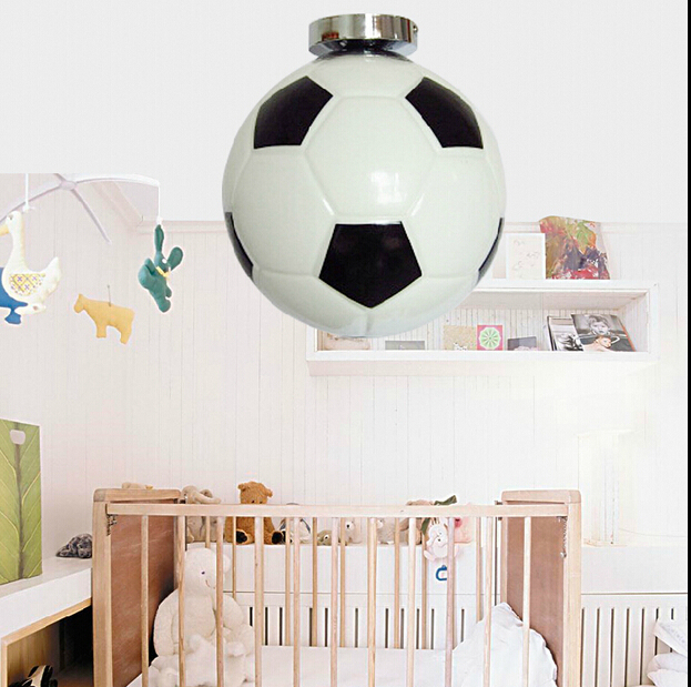 Modern childrens pendant lamp LED lamp bedroom study football chandelier for voltage 90-260V Z 35Modern childrens pendant lamp LED lamp bedroom study football chandelier for voltage 90-260V Z 35