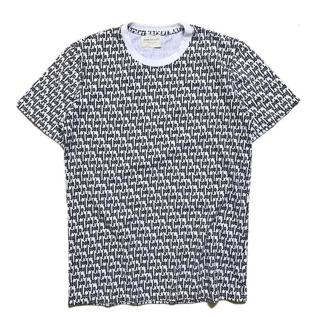 fe701635d9b3 Fear Of God T Shirt Classic FOG Full Print Streetwear Fear Of God Top Tees  Justin Bieber Summer Magazin Fear Of God T-Shirts