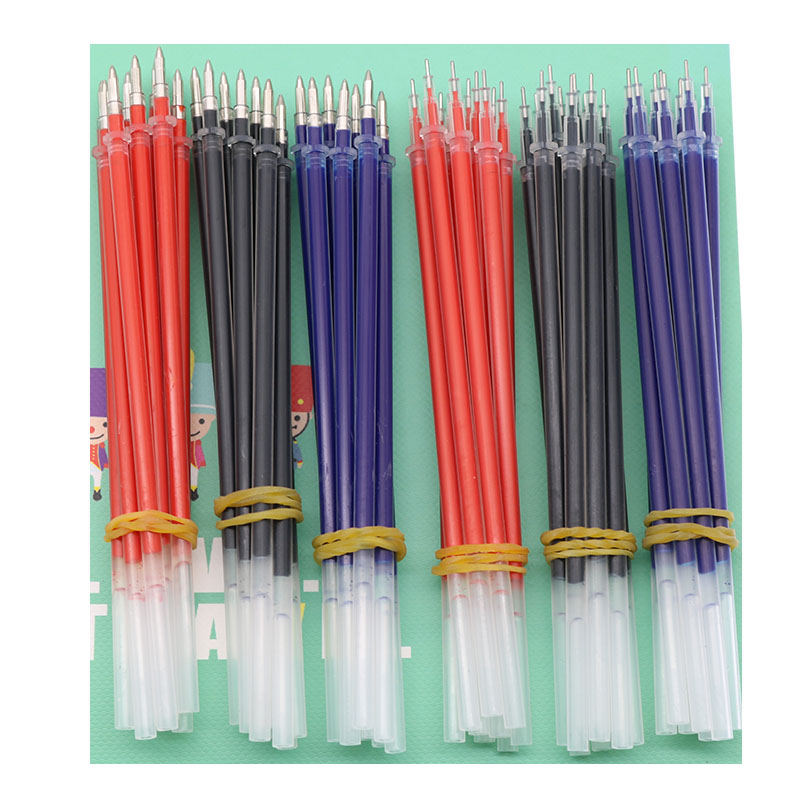 10pcs / Lot Neutral Ink Gel Ink Pen Spare Parts Good Quality Black Refill Blue Red 0.5mm (Needle Tube / Bullet Style) Office And