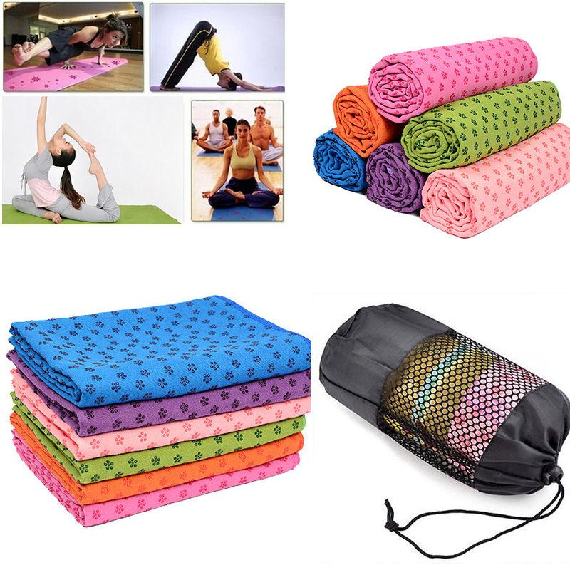 Yoga Mat Towel Sports Direct: Hot Sport Fitness Travel Exercise Pilates Non Slip Yoga