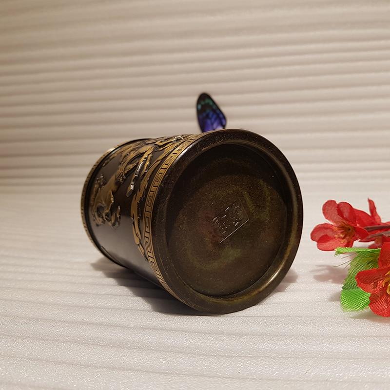 Vintage Chinese style bronze pen holder (10)