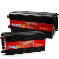 Автомобильный инвертор Мощность Чистая синусоида автомобилей Зарядное устройство USB DC 12 В к AC 220 В конвертер светодиодный Дисплей инвертор