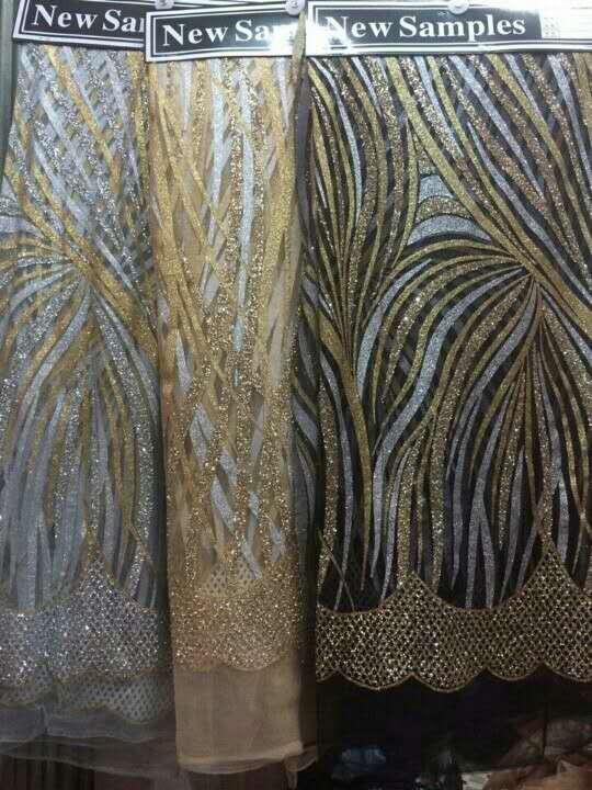 f9b93467755 Alta calidad francés tulle encaje con material de bordado ropa 3 yardas  tela africana brillo