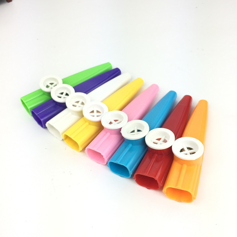 Plastic Paper Film Kazoo Children's Accompaniment Simple Harmonica Mouth Woodwind Instruments Kazoo Flute