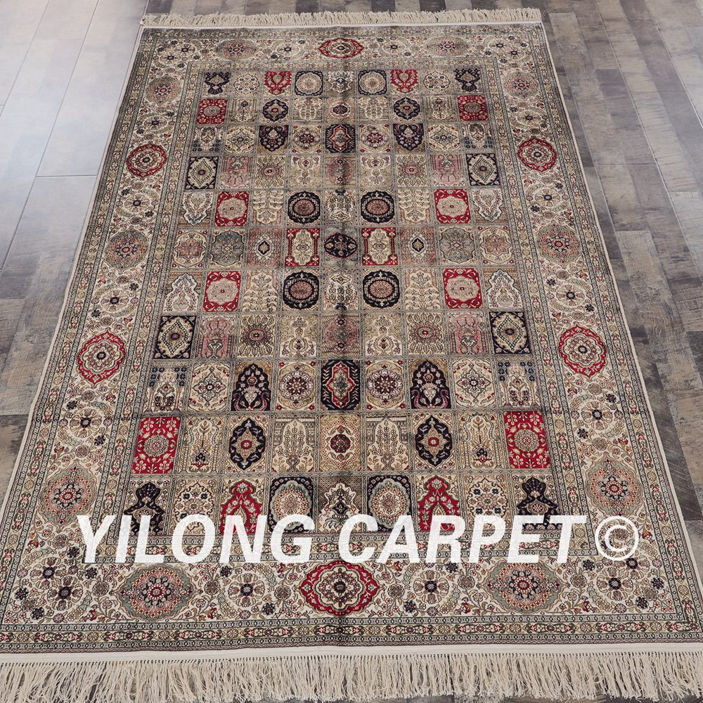 YILONG 5'x8' Handmade Persian Four Season Carpet Rectangle