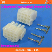 63080 12 Pin/way 6.3mm pitch Electrical connector kit (Housing+Terminal) for car/boat/motorbike ect