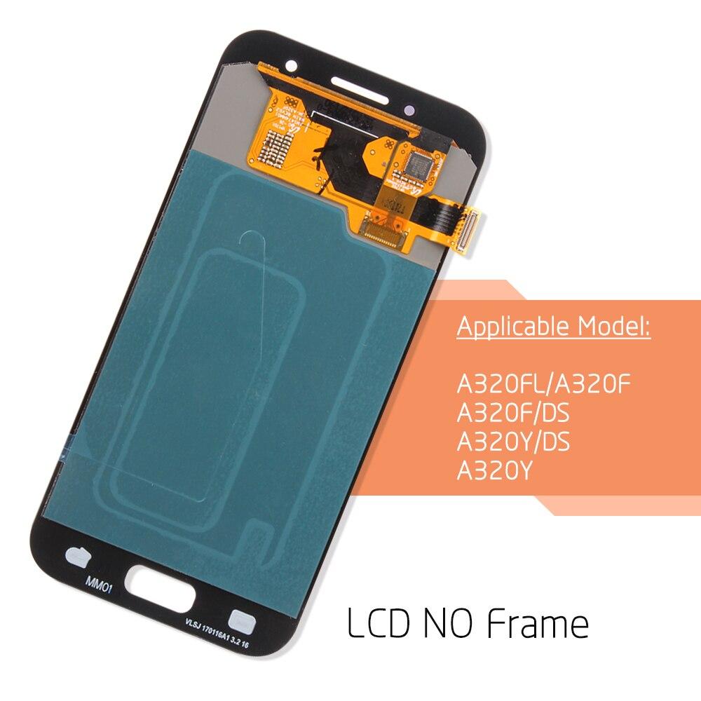 Ajuster la luminosité LCD pour Samsung Galaxy A3 2017 A320 A320F ecran tactile écran numériseur assemblée pour Samsung A320 LCD