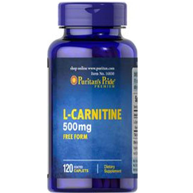USA  L-Carnitine 500mg FREE FORM 120 Coated Caplets free shippinig