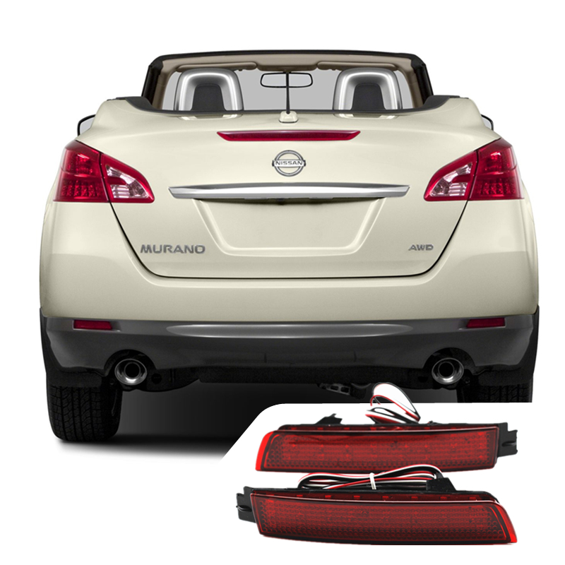 Car Accessories For Nissan Juke Murano Infiniti FX35 Reflectors LED Red Back Tail Rear Bumper Light Brake Stop Auto Fog  Light светильник 3d light fx авто red