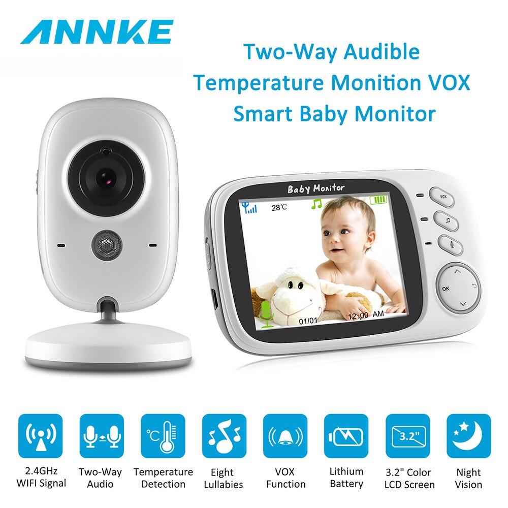 все цены на ANNKE RU 3.2inch Wireless Video Smart IR Babysitter Nanny Radio Cam P2P Two-way Audio 8 Lullabies Temperature Baby Monitor онлайн