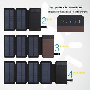 4b02a481a3 20000 mAh Waterproof solar power bank Solar Charger External Battery Backup  Pack