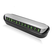 Número de telefone do carro cartão de estacionamento temporário placa de licença auto etiqueta do carro substituir cartão de número de telefone móvel escondido