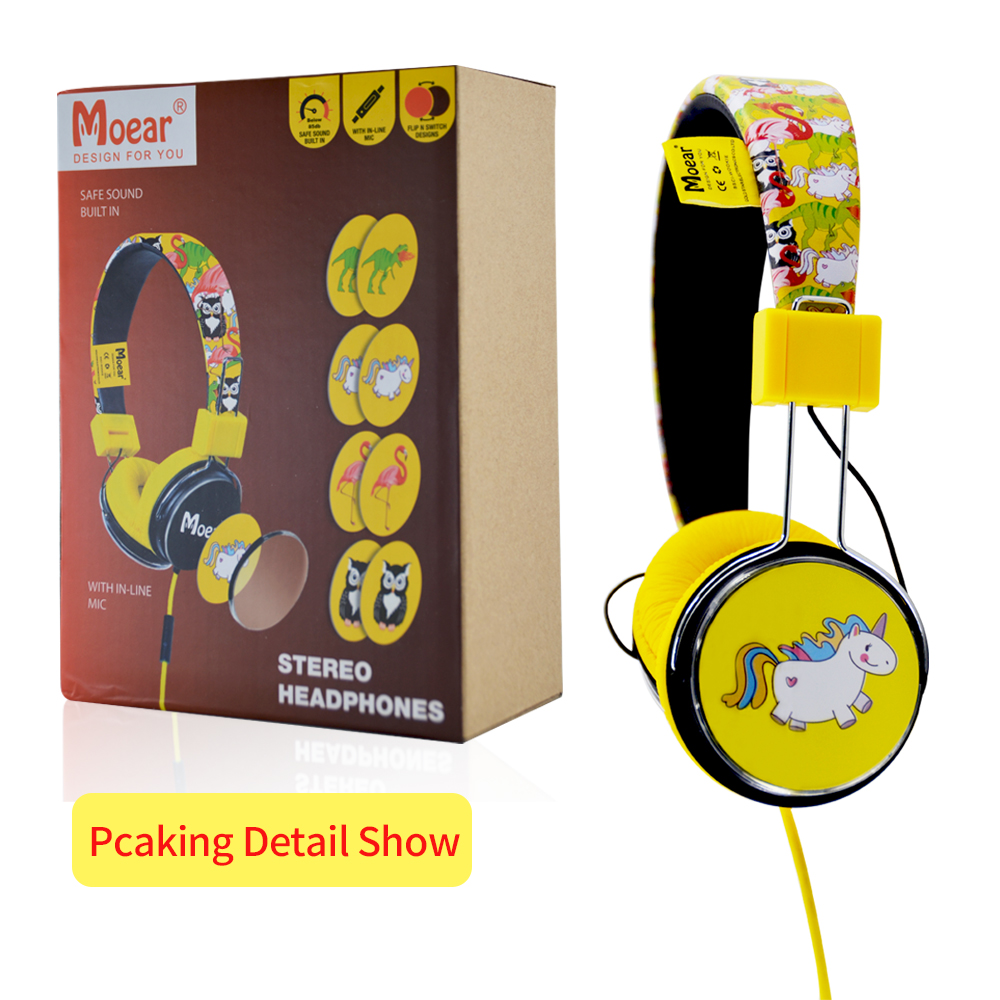 Children Kids Cartoon Headphones for tablet mp3 players PC in Bluetooth Earphones Headphones from Consumer Electronics