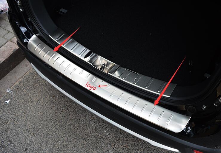 REAR BUMPER PROTECTOR DOOR STEP PANEL BOOT OUTER COVER SILL PLATE TRUNK DECK ACCESSORIES FIT FOR MITSUBISHI OUTLANDER 2015 2016