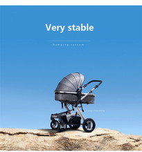 Multi-functional Baby TrolleHigh-view Baby Strolley  Pam Four Wheels Folding Kids Stroller Carriage Pushchair For Newborns