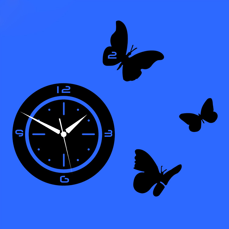 Digital 3D Wall Clock Home Decoration Butterfly Wall Decal Wall Stickers  Living Room Bedroom Vinyl Decal Art Decorative Vinyls In Wall Stickers From  Home ...