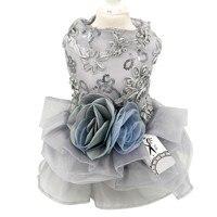 New Luxury Pet Dog Wedding Dress Princess Cat Puppy Princess Skirt Clothes Pet Bride Formal Dress