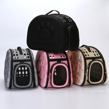 EVA Dogs Cat Handbag Pet Carrier Supplies Folding Cage Collapsible Crate Carrying Bags Pets Transport Chien Puppy Accessories фото