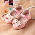 Party girls shoes flor crianças da menina da princesa sapato de couro vermelho crianças de moda de nova 2017 primavera outono tamanho 21 ~ 30 3 ~ 9 anos