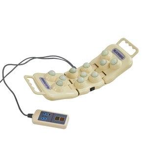 Jade Massage Kissen Elektrische Stein Folding Massage Neck Zurück Schulter Massager Therapie Gerät Infrarot Heizung Therapie Kissen